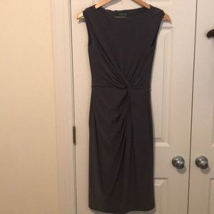 Gray Ralph Lauren Knotted Dress